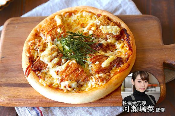 サクサク食感が新しい!アジフライの照り焼きピッツァ 料理研究家 河瀬璃菜監修レシピ